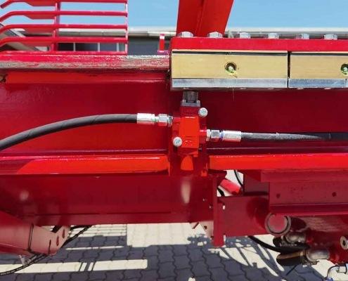 Schichtholzspalter Höhenverstellbarer Spaltkanal zum Einstellen der Scheitgrößen