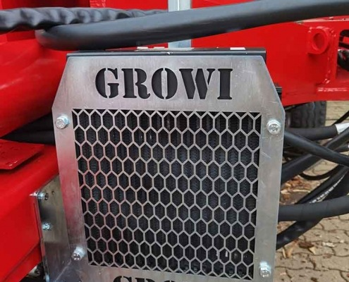Schichtholzspalter Großer Ölkühler mit hydraulischem Lüfterantrieb
