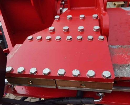 Schichtholzspalter Sehr große Messingführungen für die Druckplatte